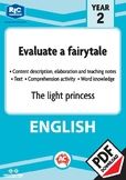 Comprehension text – The light princess – Year 2