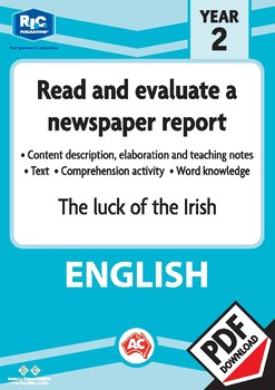 Comprehension text – The luck of the Irish – Year 2