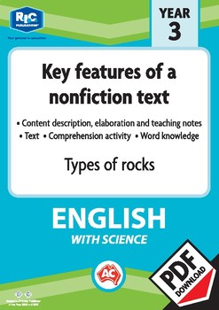 Comprehension text – Types of rocks – Year 3