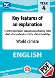 Comprehension text – World climate – Year 4