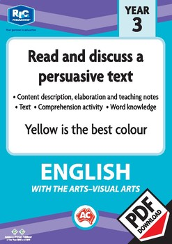 Comprehension text – Yellow is the best colour – Year 3