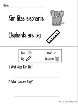 Comprehension with Visual Supports- 3 levels