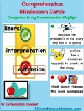 Comprehension Reading Minilesson Menu Cards