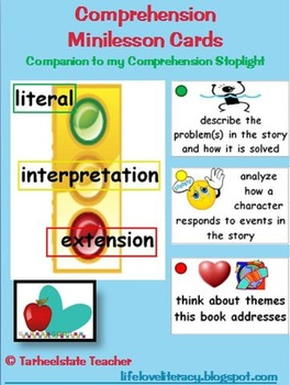 Comprehension Reading Minilesson Menu Cards