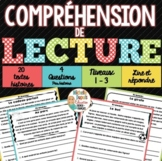 Compréhensions de lecture - 20 textes - French Reading Comprehension