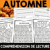 Compréhensions de lecture - Thème de l'AUTOMNE - 5 textes et questions