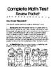 Comprehensive 3rd Grade Math Review Packet