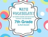 Comprehensive 7th Grade Math Vocabulary Words
