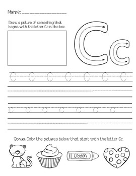 Comprehensive Alphabet Handwriting Packet with First Sound Identification