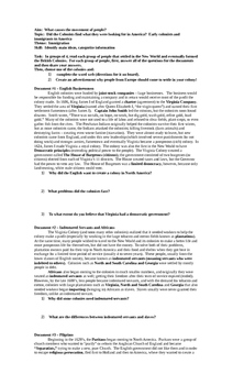 Comprehensive American History Handouts and Review Sheets for full year