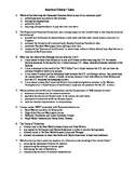 Comprehensive American History I Final Exam