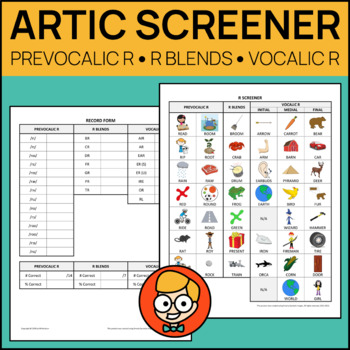Comprehensive Articulation Screener for R: Prevocalic, Blends, Vocalic
