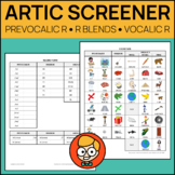 Comprehensive Articulation Screener for R: Prevocalic, Ble