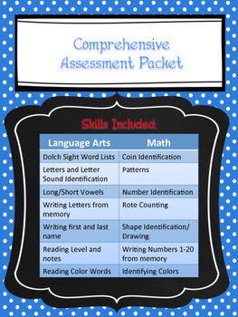Comprehensive Assessment Pack