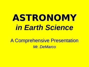 Comprehensive Astronomy PowerPoint Unit