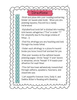 Comprehensive Book List: Reading Strategies