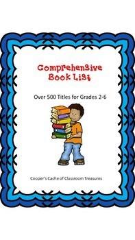 Comprehensive Book List for Grades 2-6