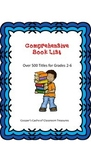 Comprehensive Book List for Grades 2-6
