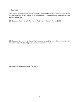 Comprehensive Calculus Exam