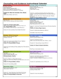 Comprehensive Counseling Instructional Calendar