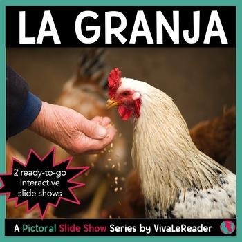 Farm Animal Pictorial Slide Show Series in Spanish/ La Granja