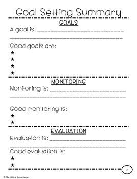 Comprehensive Goal Setting Unit