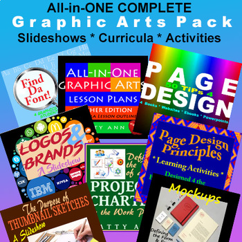 Graphic Arts Bundle> Activities + Projects + PowerPoints=Complete Forever Packet