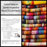 Guided Notes on the Spanish Imperative Mood for Informal (Tú) Commands