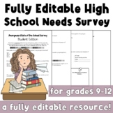 Editable Comprehensive HS Needs Survey (Multimodal)