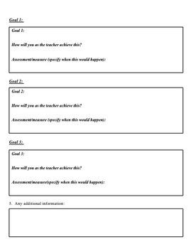 Comprehensive IEP Reporting Tool/ Teacher Reflection Graphic Organizer