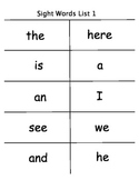 Comprehensive Individualized First Grade Sight Word Program