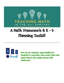 Comprehensive K-8 Math Planning Toolkit & Framework