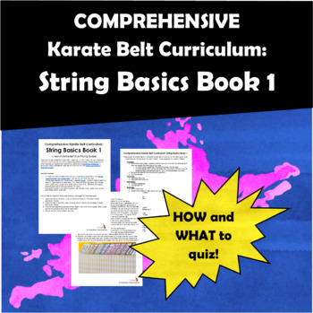 Comprehensive Karate Belt Curriculum: String Basics Book 1
