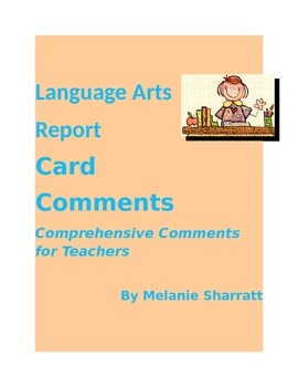 Middle Years Comprehensive Language Arts Report Card Comments