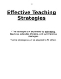 Comprehensive List of Effective Teaching Strategies with Descriptions!