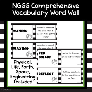 Comprehensive List of NGSS Science Vocabulary Words 5th Grade