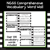 List of NGSS Science Vocabulary Words Editable
