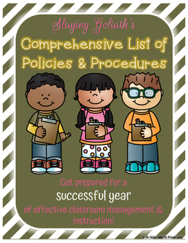 Comprehensive List of Policies & Procedures