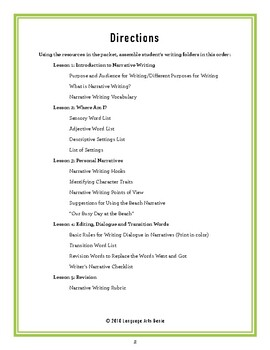 Comprehensive Narrative Writing for Average Writers - Grades 2-6