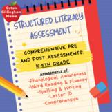 Orton Gillingham Assessment-Phonological Awareness, Phonics, reading, Writing