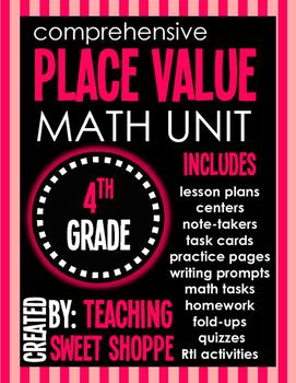 Comprehensive Place Value Unit for 4th Grade