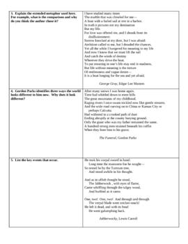 Comprehensive Poetry Test