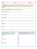 Comprehensive Reading Log - Reading Strategies and Bookmarks
