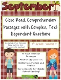 September 7th(Vol.1) - Common Core Close Read w/ Text Dependent Complex Quest.