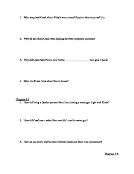 Comprehensive STUDY GUIDE for Crash by Jerry Spinelli