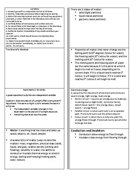 Comprehensive Science Pocket Cards Study Guide