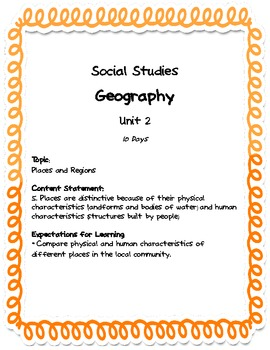 Comprehensive Social Studies Unit: 1st Grade: Geography