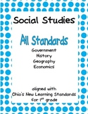 Comprehensive Social Studies Unit for 1st Grade: Covers All Standards