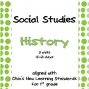 Comprehensive Social Studies Unit for 1st Grade: Covers All Standards