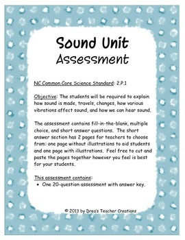 Comprehensive Sound Unit Assessment